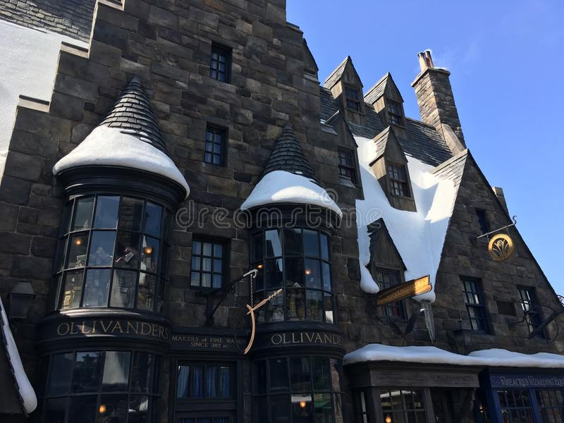 Den Wizarding världen av Harry Potter i universell studio fotografering för bildbyråer