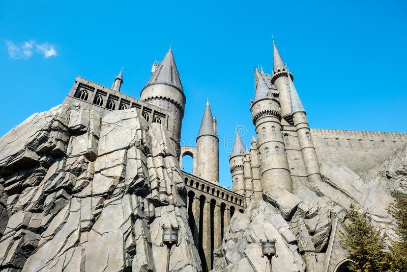 Den Wizarding världen av Harry Potter i universella studior Japan USJ, Osaka, Japan royaltyfria foton