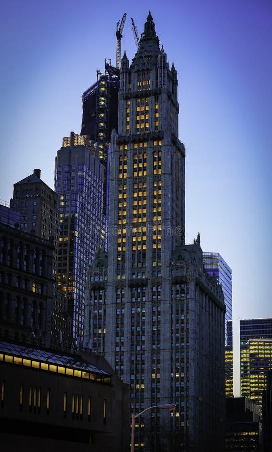Den Woolworth byggnaden i New York City fotografering för bildbyråer