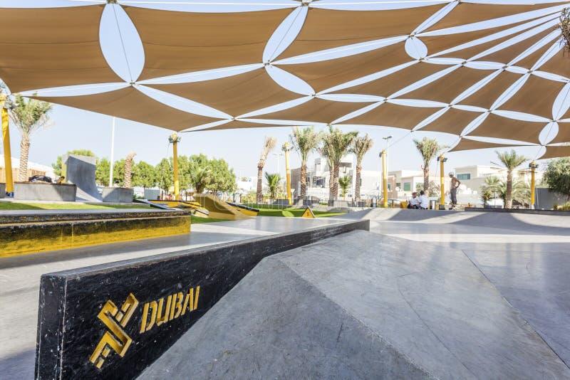Den XDubai skridskon parkerar royaltyfri foto