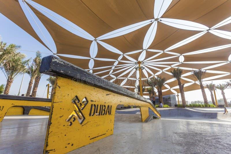 Den XDubai skridskon parkerar royaltyfri fotografi