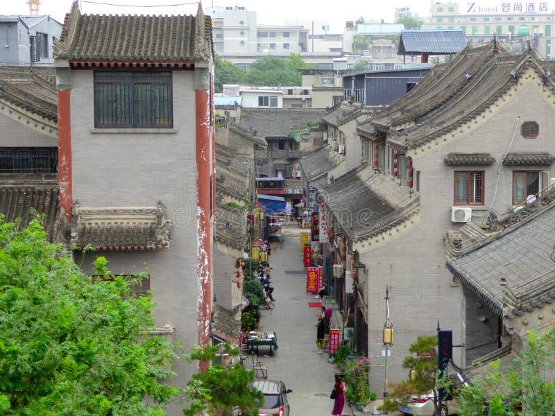 Den Xi'an arkitekturen arkivbilder