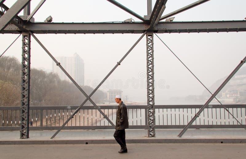 Den Yellow River bron arkivfoto