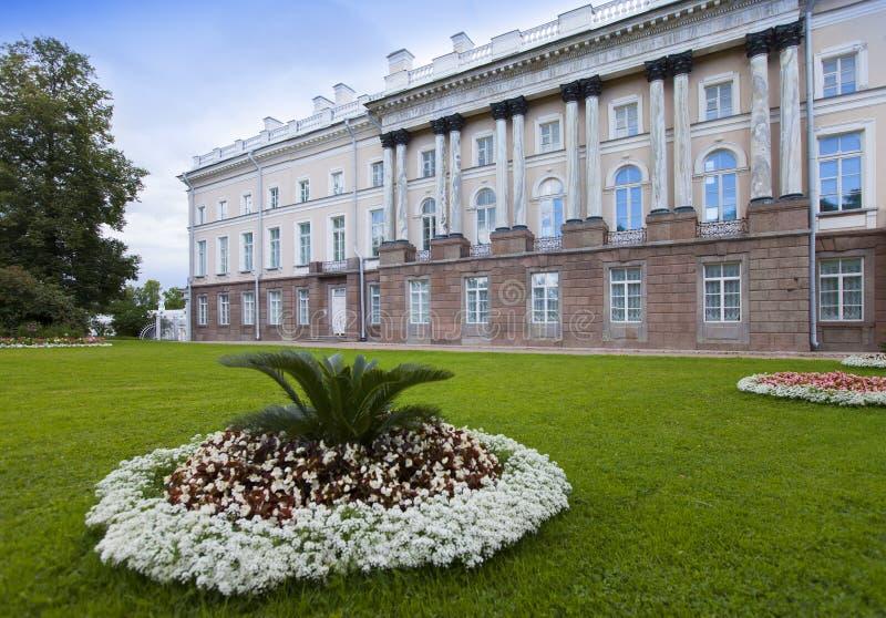 Den Zubov vingen av den stora slotten 24 för petersburg för park för nobility för km för catherine besök för tsarskoye för st för arkivbild
