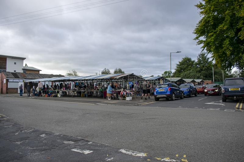 Denaby Car Boot Sale Outdoor Market, Church Road, Denaby Main, Doncaster, South Yorshire, Sunday 15th Sept 2019 royalty free stock image