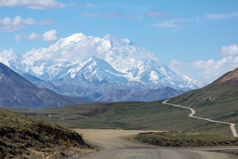 Denali,阿拉斯加-高峰在北美 库存图片