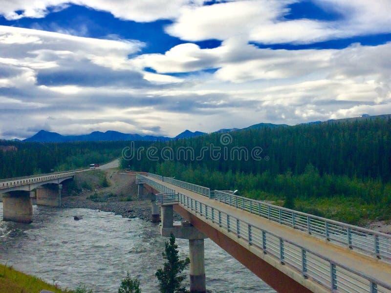 Denali footbridge fotografia stock