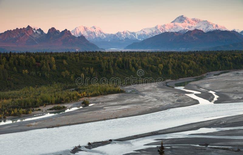 Denali-Gebirgszug Mt McKinley Alaska Nordamerika stockbilder