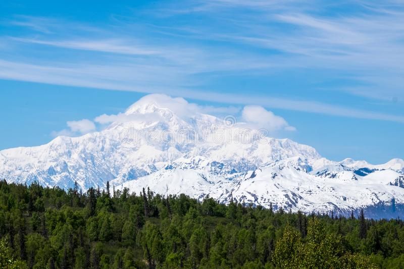 Denali The Great One or Mount Mckinley royalty free stock photography