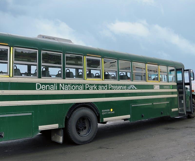 Denali National Park bus stock photography