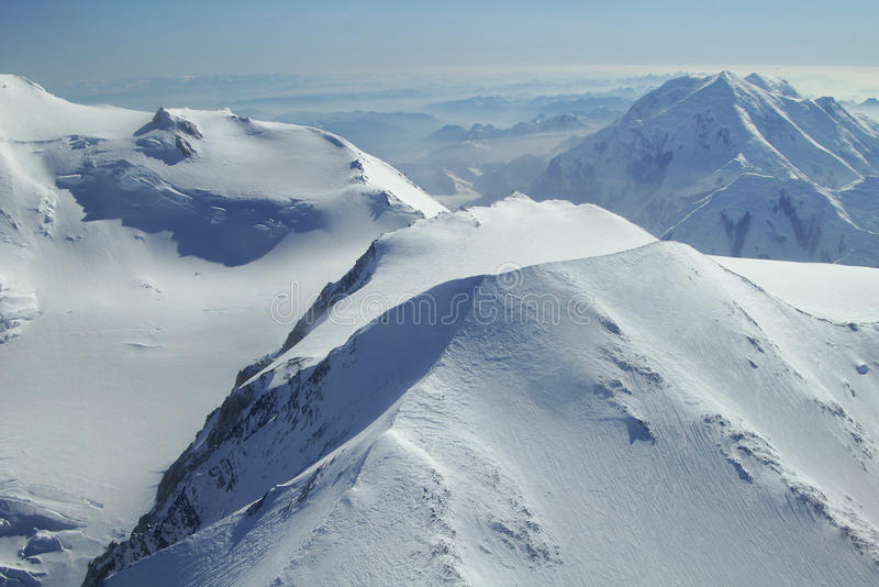 Denali Peaks. Photo of peaks in Denali National Park, Alaska stock image
