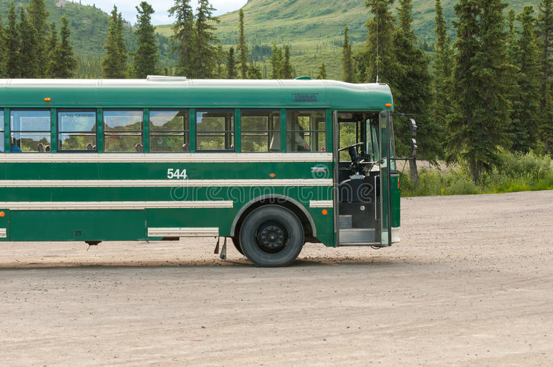 Denali-Reisebus stockfotografie