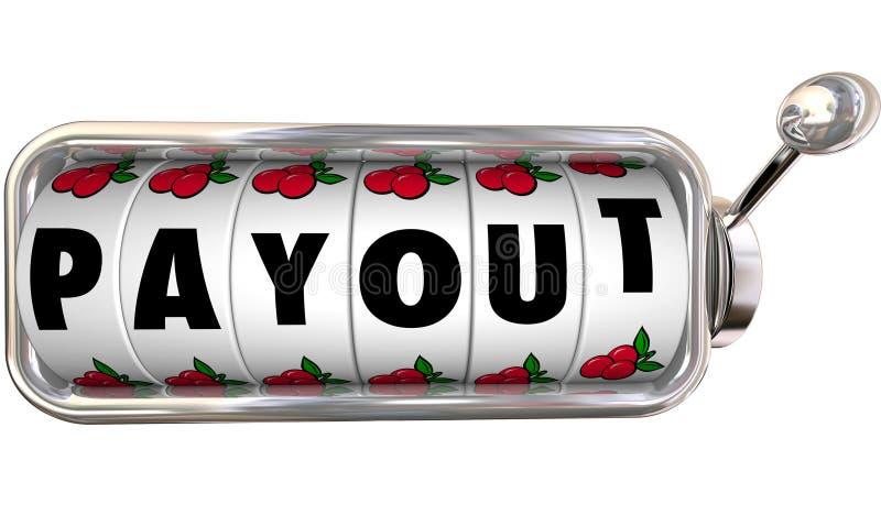 Denaro contante Inco di pagamento dei guadagni dello slot machine di posta di versamento grande illustrazione vettoriale