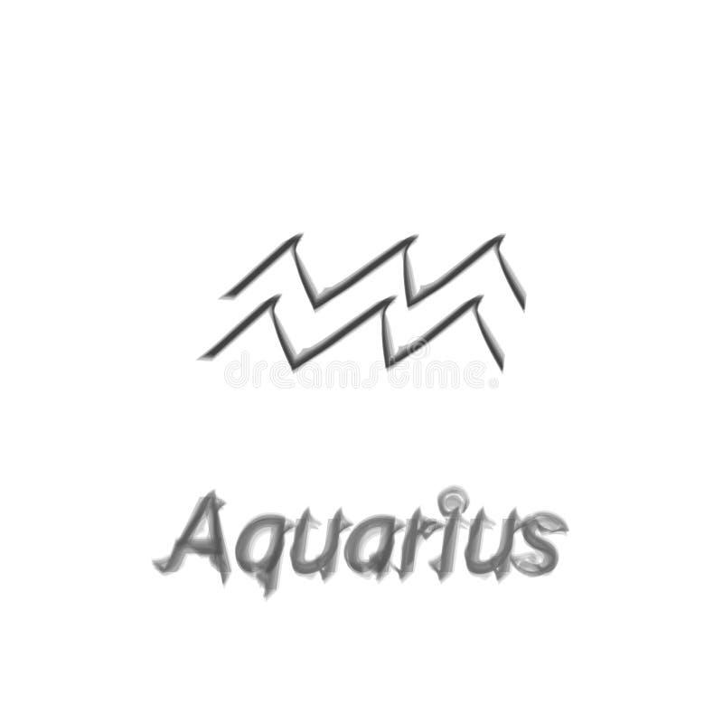 Denbärare aquariusallsången Beståndsdel för stjärnakonstellationvektor Ålder av symbolet för aquariuskonstellationzodiak på ljus stock illustrationer