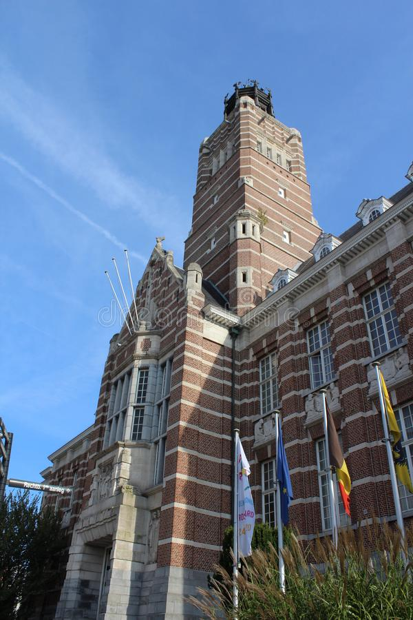 Dendermonde Courthouse Building, Flanders, Belgium. DENDERMONDE, BELGIUM, 31 OCTOBER 2019: View of the court house of First Instance in Dendermonde a town in royalty free stock image