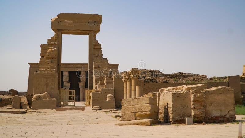 Dendery świątynia lub świątynia Hathor Egipt Dendera, Denderah, jest miasteczkiem w Egipt Dendera Świątynny kompleks, jeden najle obrazy royalty free
