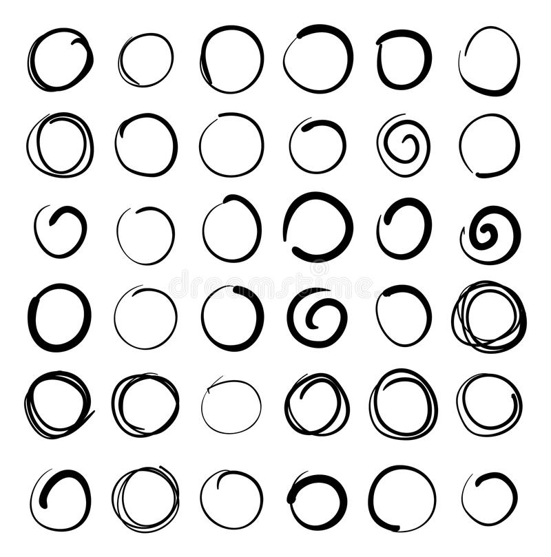 Dendrog vektorn klottrar uppsättningen för cirkelabstrakt begreppklottret vektor illustrationer