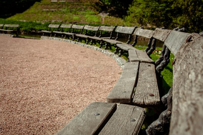 ` Dendrological nacional de Sofiyivka del ` del parque, Uman, Ucrania Sofiyivka es una señal escénica del diseño que cultiva un h fotografía de archivo libre de regalías