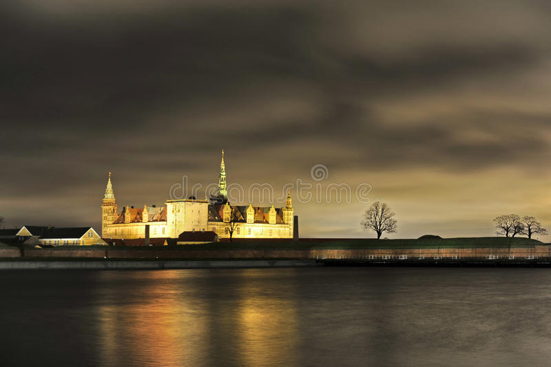 Denemarken Helsingor, Kronborg-Kasteel stock fotografie