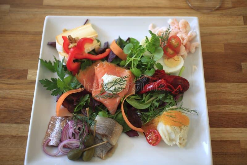 Denemarken, Mon-eiland, restaurant stock afbeelding