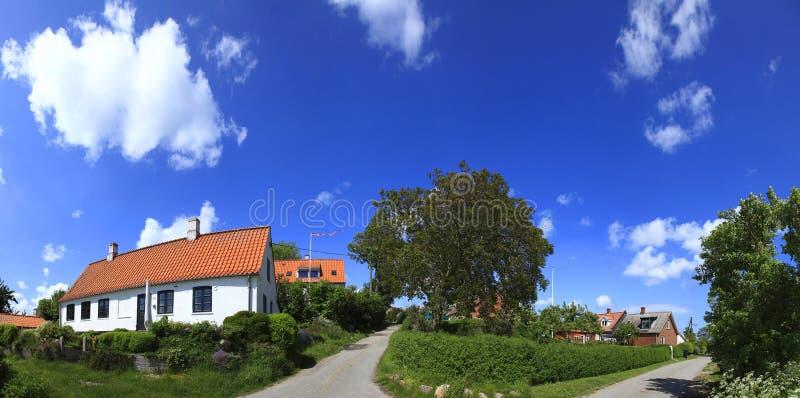 Denemarken, Mon, Nyord-eiland, het dorp royalty-vrije stock foto