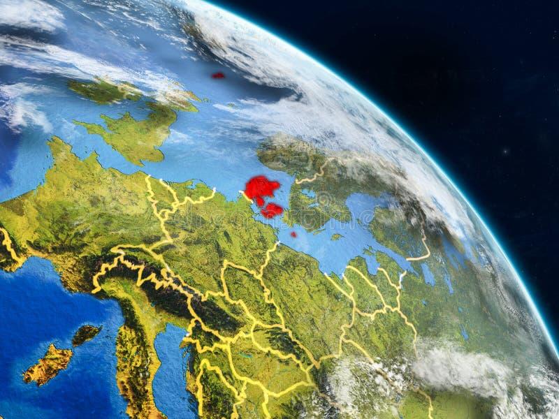 Denemarken van ruimte stock afbeeldingen