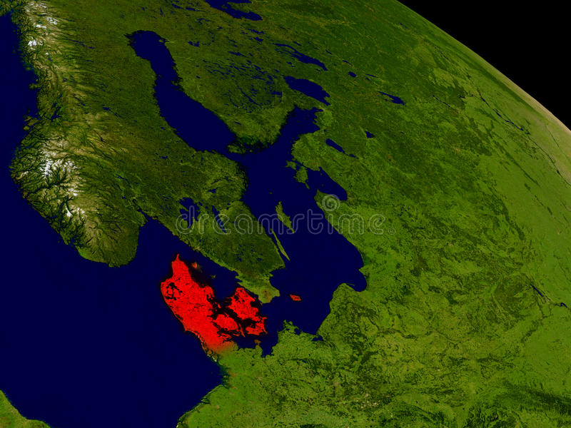 Denemarken van ruimte vector illustratie