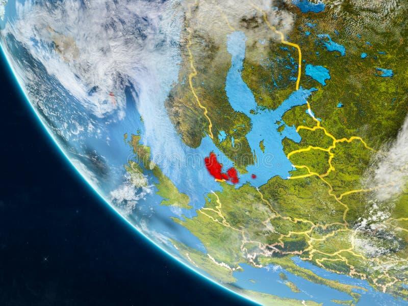 Denemarken van ruimte ter wereld vector illustratie