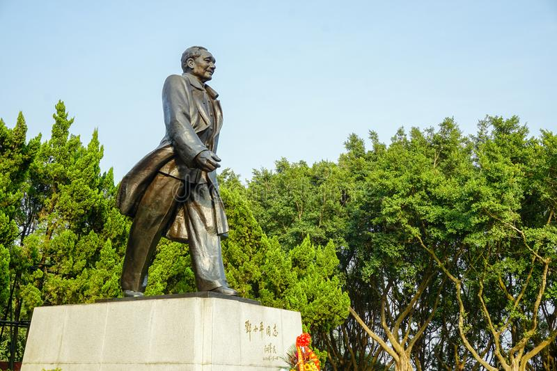 Deng xiaoping statue of lianhua mountain in shenzhen royalty free stock photography