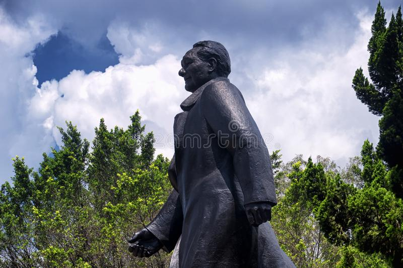 Deng Xiaoping statuy Lianhuashan park obrazy stock