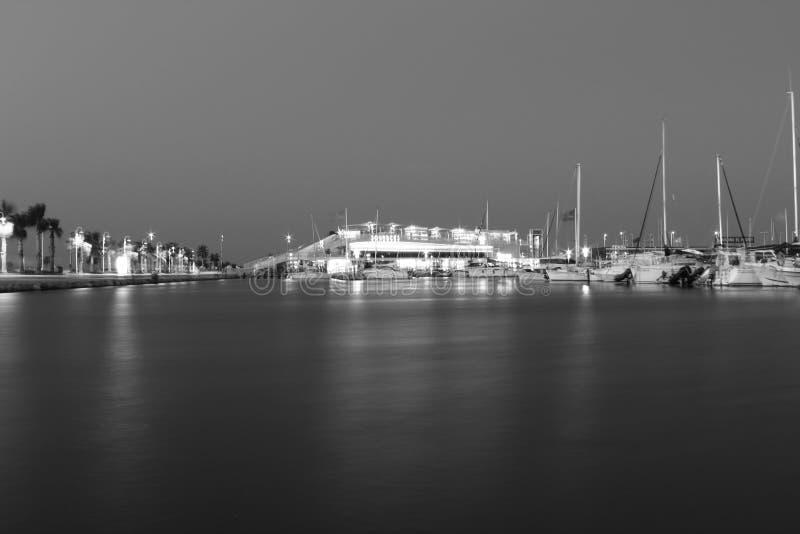 Denia, Alicante, Hiszpania czarny i biały fotografia stock