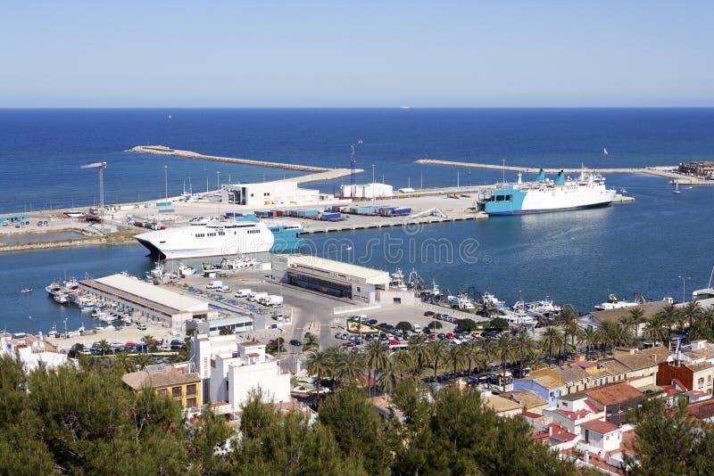 Download Denia Alicante Spain High View Marina Stock Photo - Image: 14814610