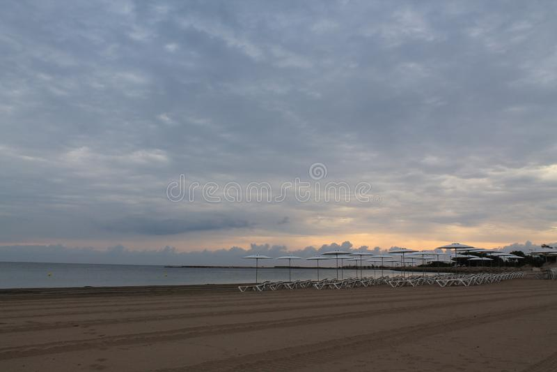 Denia Beach royaltyfri foto
