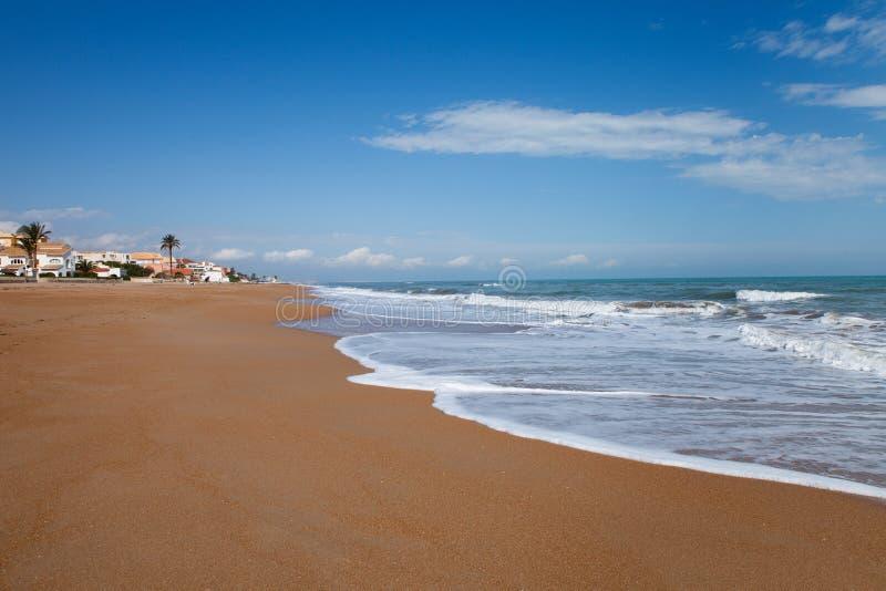 Denia Beach stock foto