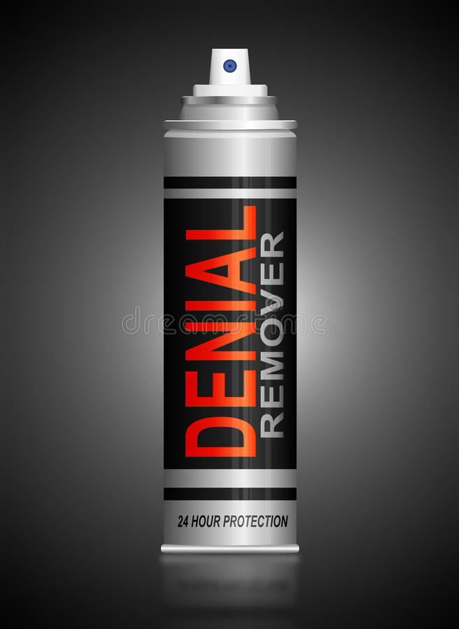 Denial concept. Illustration depicting cutout printed letters arranged to form the word denial vector illustration