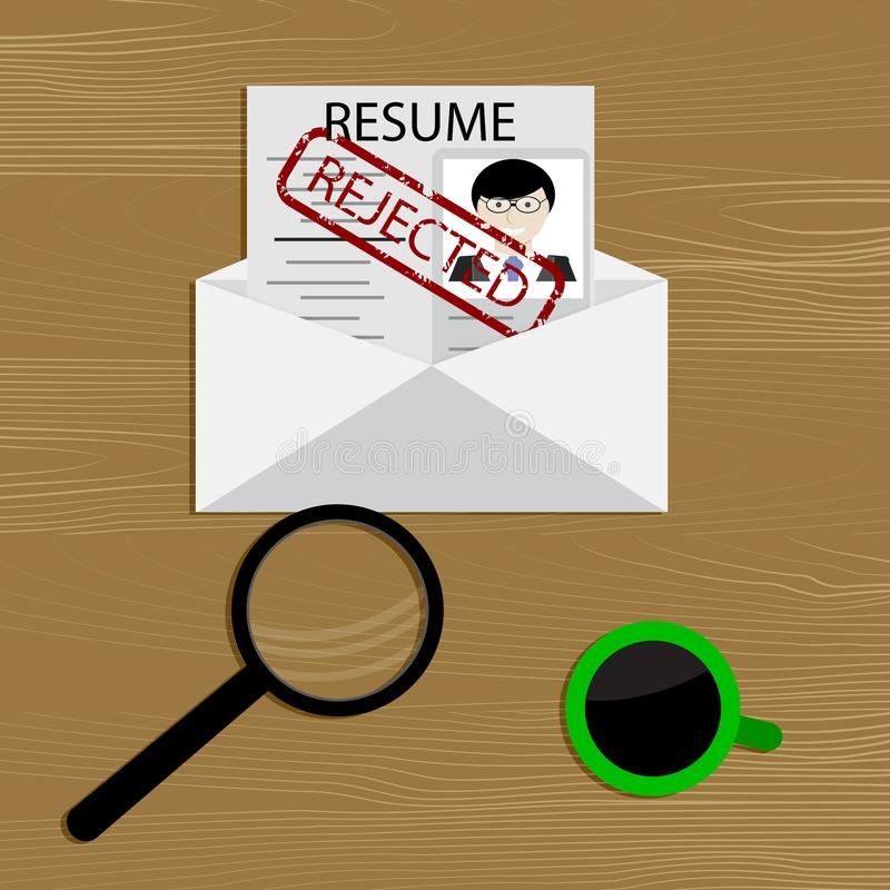 Denial of employment royalty free illustration