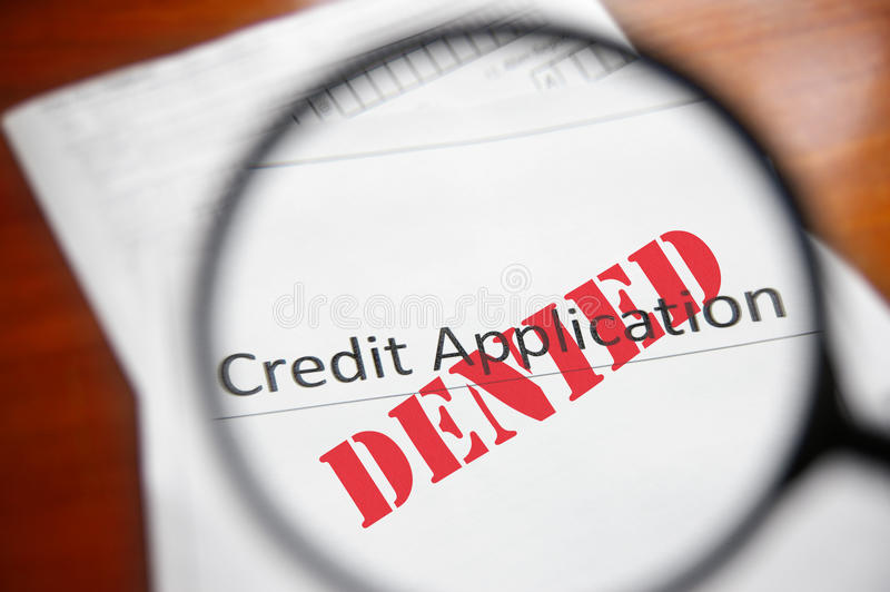 Download Denied credit stock photo. Image of paperwork, business - 23876582