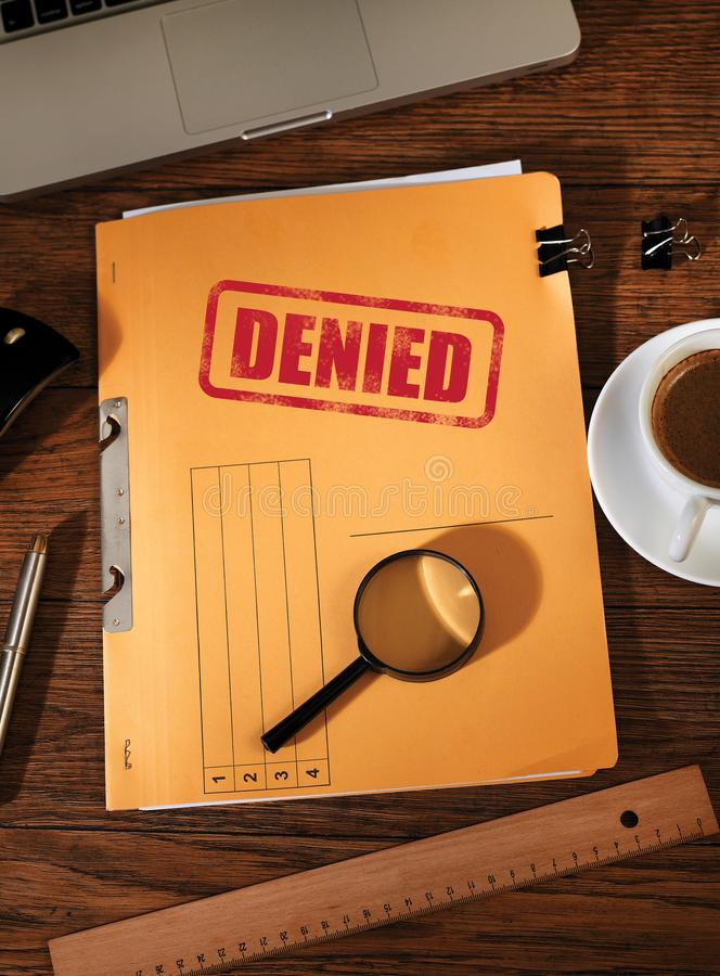 Denied folders from above royalty free stock image