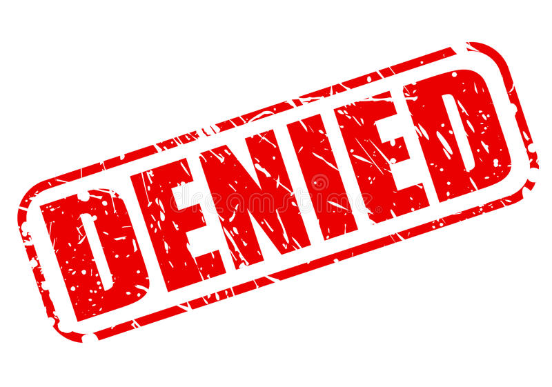Denied red stamp text royalty free illustration