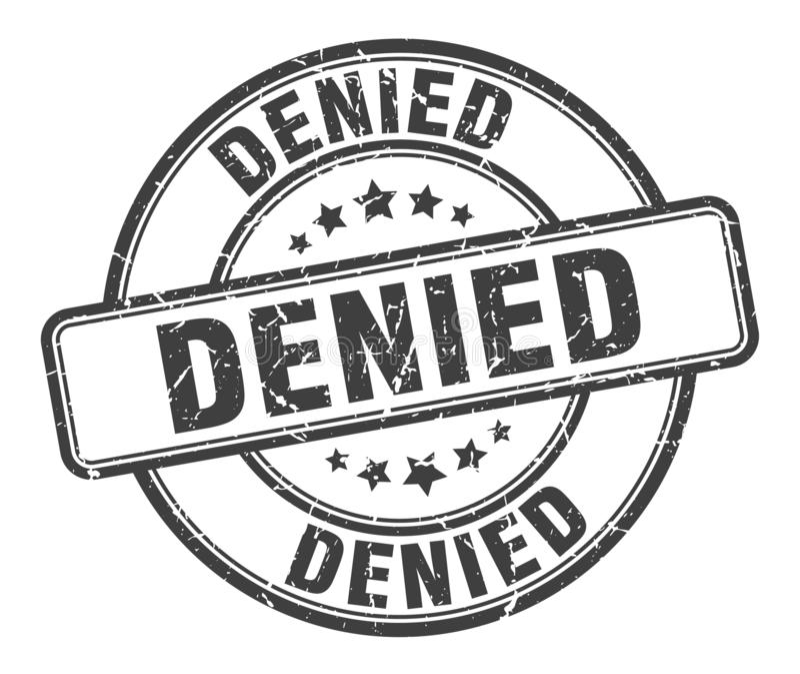 denied stamp stock illustration