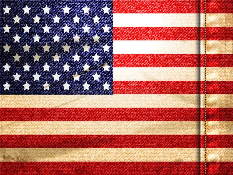 Denim Amerikaanse vlag stock illustratie