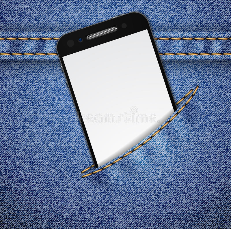 Download Denim Background With Smartphone. Stock Vector - Image: 23026758