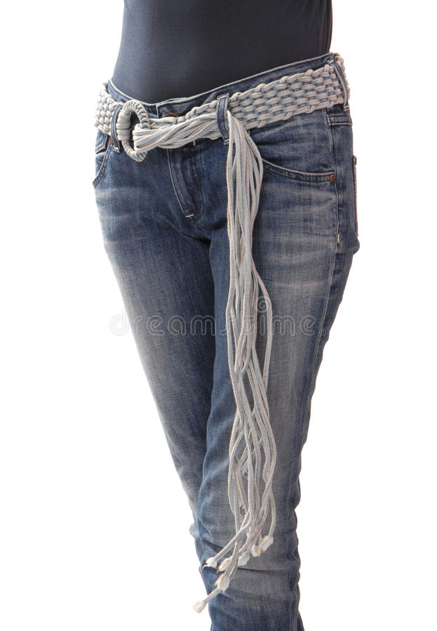 Denim belt. royalty free stock photos