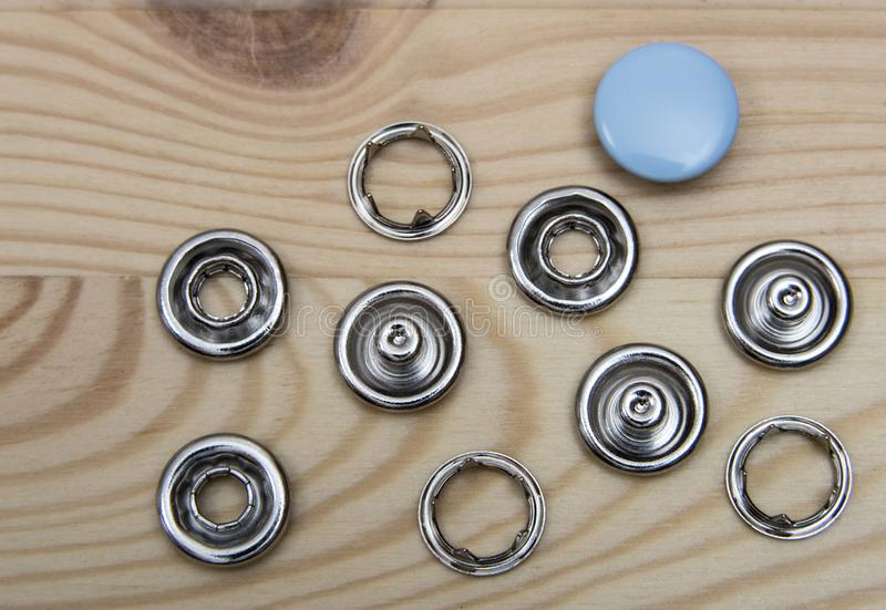 Denim buttons - accessories royalty free stock image