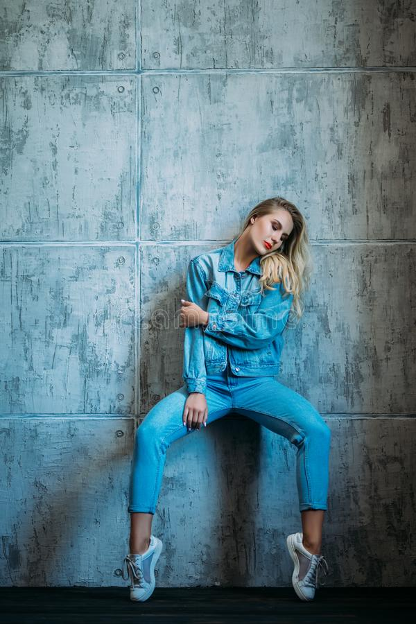 Denim casual fashion royalty free stock photography