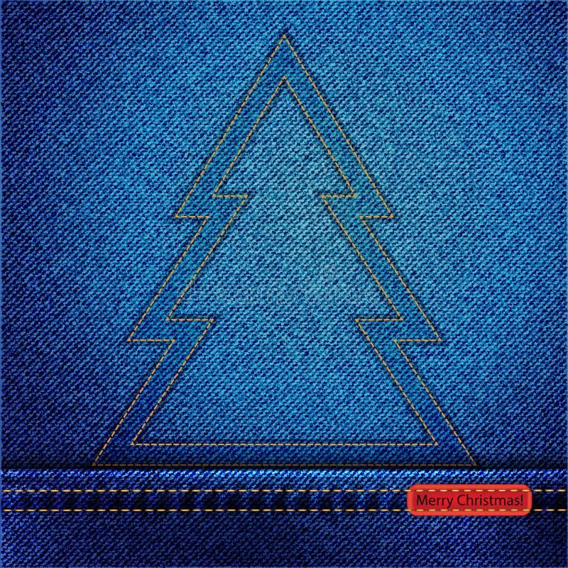 Download Denim Christmas Tree Outline Stock Vector - Image: 27474655