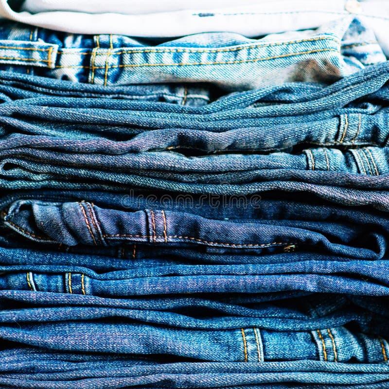 denim De achtergrond van jeans De textuur of het denimjeansachtergrond van denimjeans royalty-vrije stock afbeelding