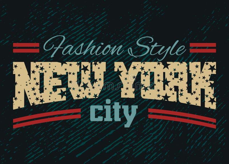 Denim 1 de style de mode de New York City illustration stock