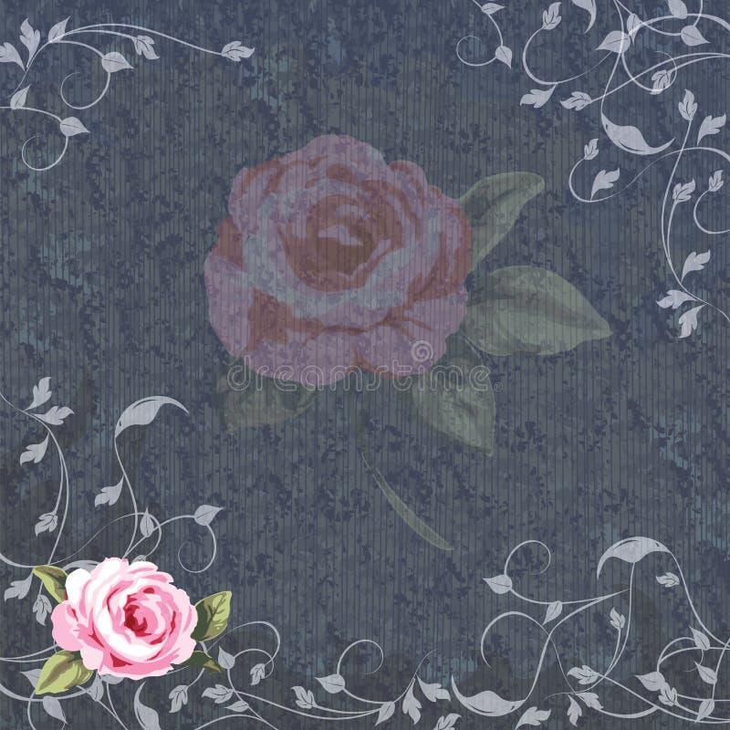 Denim et invitation florale de mariage illustration libre de droits