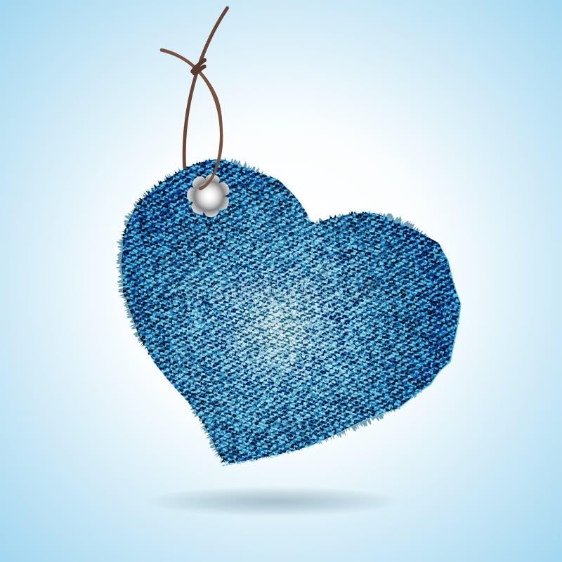Download Denim gift tag stock vector. Image of label, illustration - 24044938